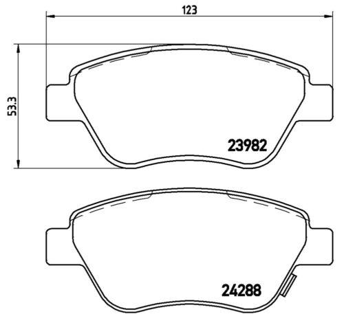 Kit Dischi freno Opel Corsa d 1.3 cdti 55kw e 1.2 pastiglie BREMBO Anteriori