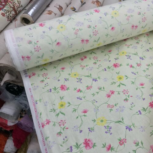 Juliette Small Flowers Fabric Cotton Curtain Upholstery Craft Quilting Duvet