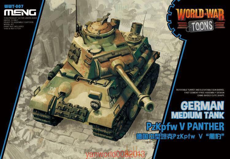 Meng German Heavy Tank Tiger Plastic Model Building Kit # WWT-015 P VK45.01 Cartoon Model