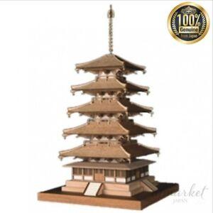 NEW-Woody-Joe-1-150-Horyuji-Temple-Five-Tree-Wooden-Model-Assembly-Kit-JAPAN