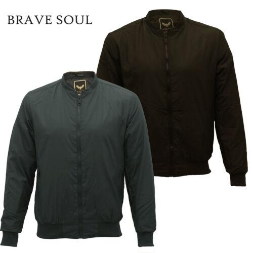 """Homme Brave Soul /'Sanjay Rembourré /""""Léger Bomber Harrington Doublé Veste Manteau"""