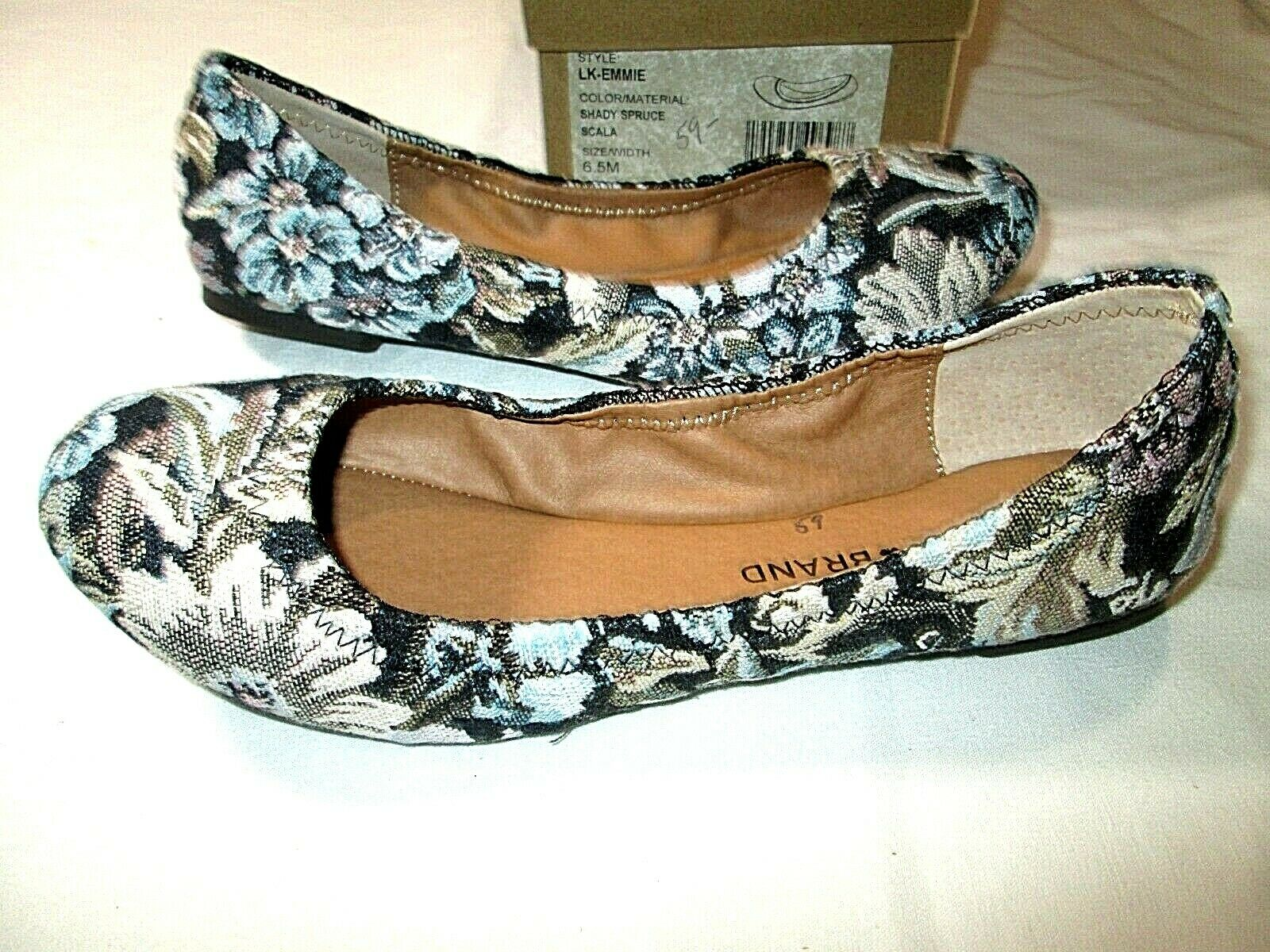 NEW Lucky Brand Women's Ballet Shoes Emmie Size 6.5M Shady Spruce NIB