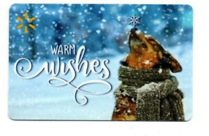 Walmart-Cute-Dog-Snowflakes-Warm-Wishes-Gift-Card-No-Value-Collectible