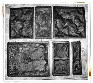 6 Verschiedene Schalungsformen Beton Gips Giessformen Wandklinker Riemchen Set Heimwerker Klinker
