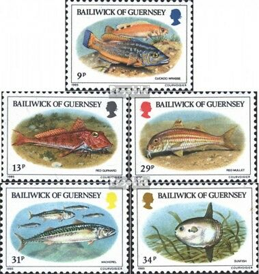 Dynamic United Kingdom-guernsey 314-318 (complete Issue) Unmounted Mint / Never Hinged 1 Colours Are Striking