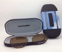 Cocoons Amber Polarized Sunglasses/eyeglasses Over Rx Clip-on Ovl 2-51 Bronze