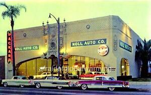 Old Photo Pasadena California Noll Auto Co Packard