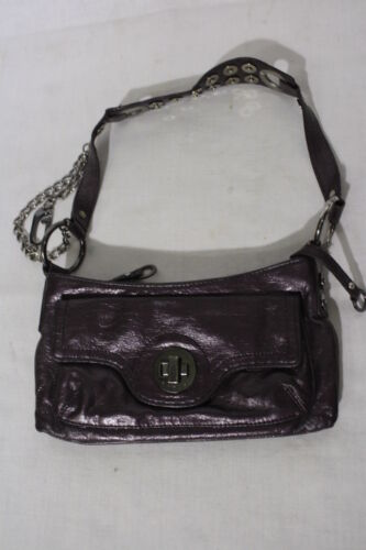 "GUESS Purple ""Studded"" Mini Shoulder Bag W/Silvert"