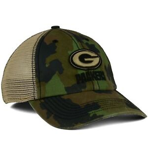 Green Bay Packers  47 Brand NFL Barge Camo Relaxed L XL Flexfit ... 031197b71