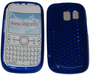 finest selection bd328 50bca Details about For Nokia Asha 302 / 3020 Pattern Gel Jelly Case Cover  Protector Pouch Blue New