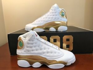 super popular cce99 8e7e1 Details about Nike Air Jordan BG Retro 13 DMP White Gold Size 4.5Y Sz 6  Women's 897561 900