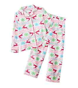 Image is loading NWT-FLEECE-KOMAR-KIDS-Girls-New-Pajamas-REINDEER- a7b22a79f