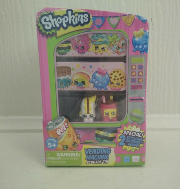 SHOPKINS VENDING MACHINE STORAGE TIN - BRAND NEW & SEALED