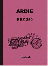 Ardie RBZ 250 Major Bedienungsanleitung Betriebsanleitung Handbuch RBZ250 Manual