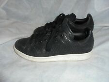 97c5232a4e9f7 ADIDAS STAN SMITH MEN S BLACK LEATHER LACE UP TRAINERS SIZE UK 7 EU 40.5 VGC