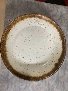 "Vintage USA Pottery Brown Drip Glaze Salad/Dessert Bowl 6 3/4"" McCoy Hull"