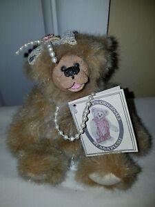 """Manufactured Kimbearly's Originals 6.5"""" Mini Sarah Bear Resin Face Teddy Bear Kimberly Hunt Choice Materials"""