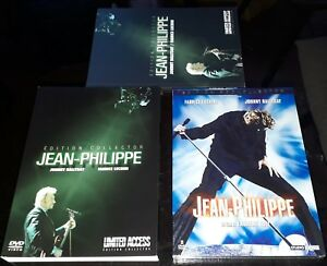JOHNNY HALLYDAY COFFRET DOUBLE DVD + LIVRET JEAN PHILIPPE LIMITED ACCESS COMPLET