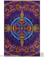 """3D Magic Mushroom Tapestry Tablecloth Trippy Wall Art w/ Corner Loops 60x90"""""""
