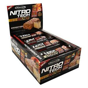 MuscleTech NITRO Tech Crunch Bar Birthday Cake 12 Bars