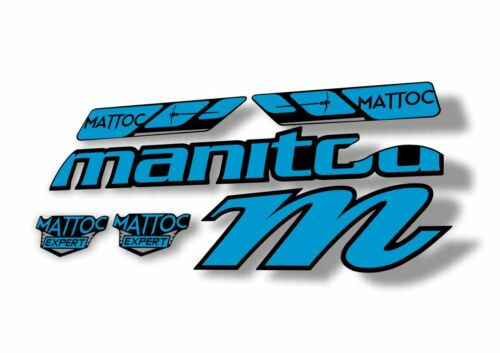 MANITOU 2016-17 MATTOC EXPERT Fork Suspension Factory Decal Sticker Kit Blue