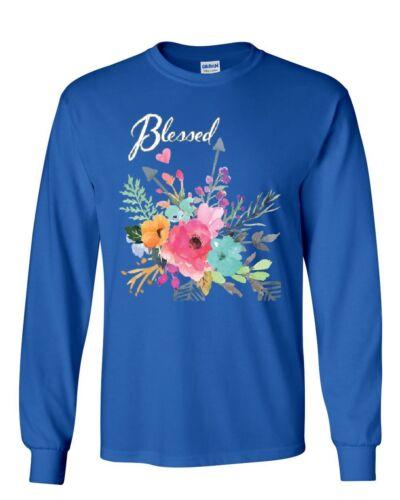 Blessed Long Sleeve T-Shirt Love Faith Hope Believer Motivation Kindness Tee