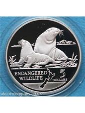 1993 New Zealand Endangered Wildlife Series 1oz Silver Frosted Proof $5 Coin