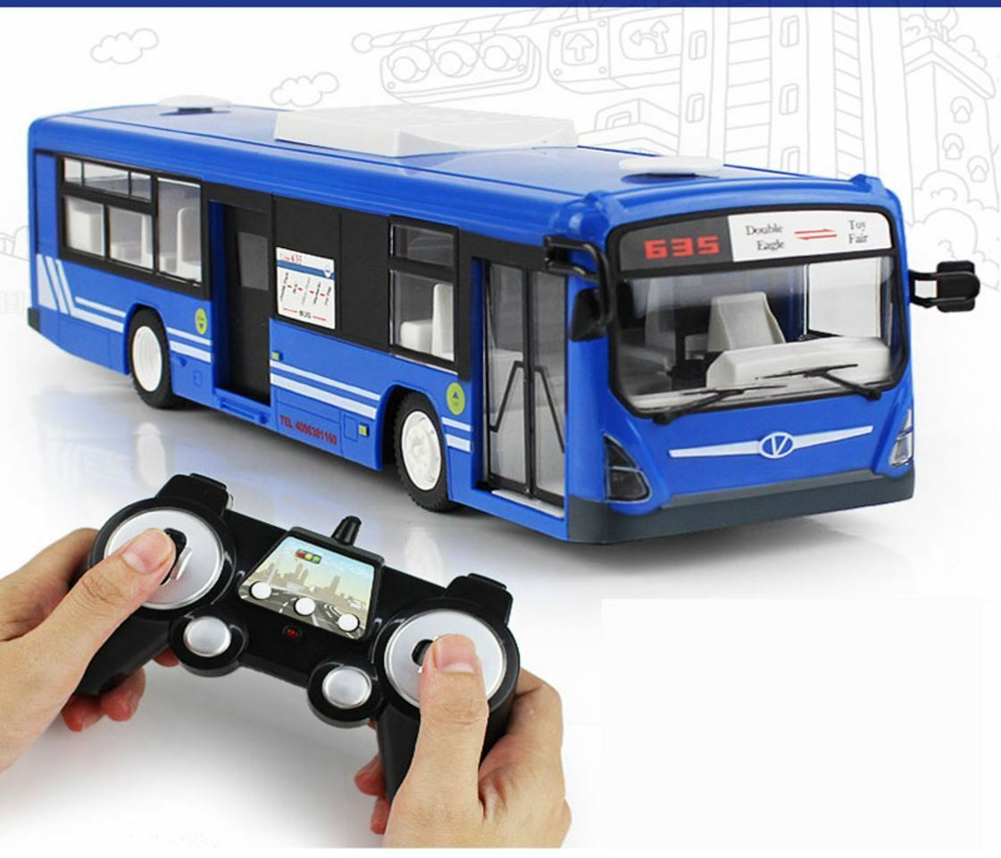 2.4G Remote Control Bus Car Charging Electric Open Door RC Car Model