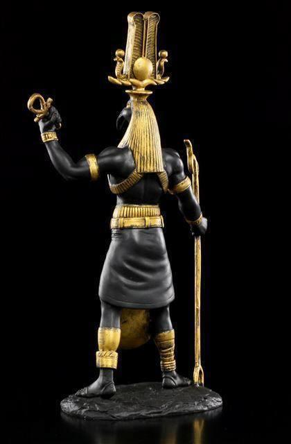 Ägyptischer Ägyptischer Ägyptischer Gott - Thot Figur als Krieger - Deko Statue Ägypten 073cc2