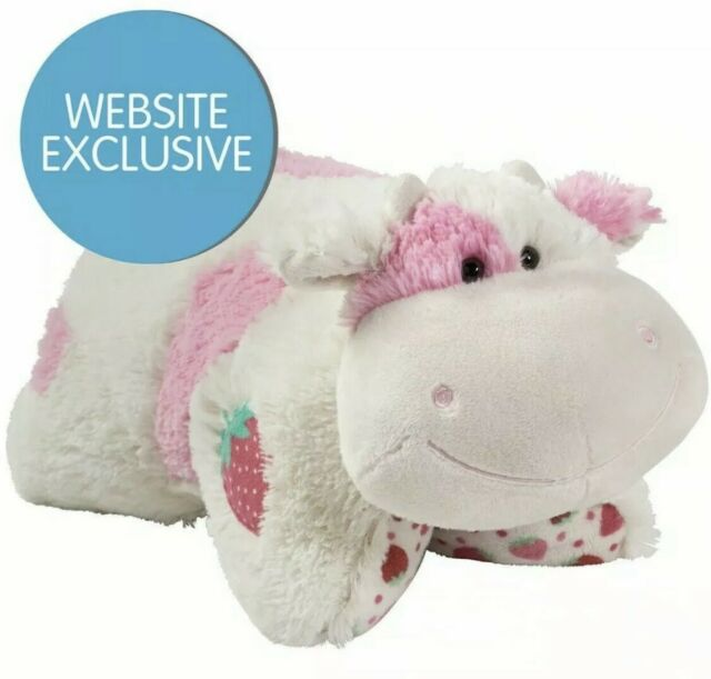 """Strawberry Milkshake Cow Pillow Pet 18"""" Sweet Scented NEW FREE SHIP - IN HAND"""