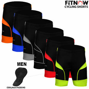 Homme-Velo-Cycle-Shorts-Velo-Qualite-CoolMax-Anti-Bac-rembourrage-Skin-Tight