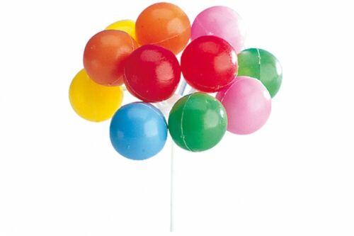Balloons x 3 Bunches Plastic Birthday Cake Decorations