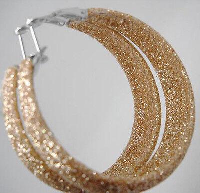 E1031 dull polish charm circle simple new hoop earrings hot sell jewelry