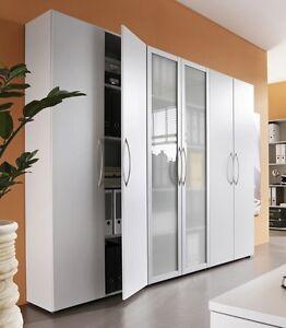 Büroschrank weiß  Büro Schrank weiss 3 x Aktenschrank Büroschrank Schrankwand | eBay