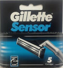 Mens Gillette Sensor Refill Blades - 5 Cartridges