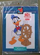 Captain Donald Duck cross stitch kit Disney 36005 ship wheel sailor boat NIP