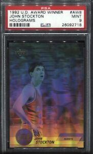 John-Stockton-1992-Upper-Deck-Award-Winner-Holograms-AW8-PSA-9-Mint