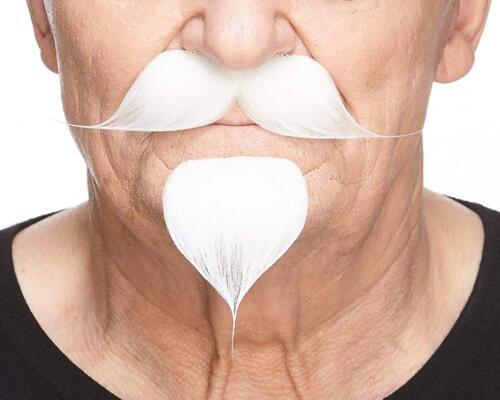 Mustaches Self Adhesive False... Fake Handlebar with a Goatee Novelty