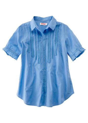 Féminine Blouse Avec Pointes utilisation dans bleue-Taille 40-m408-958559