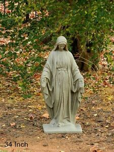 Image Is Loading Blessed Virgin Mary Statue Outdoor Garden Yard Lawn