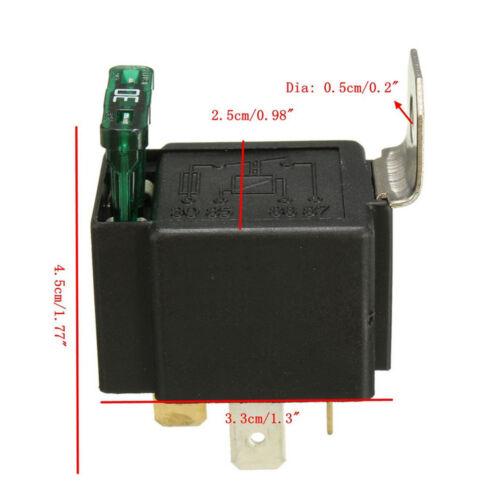12V 30A 4-Polig Umschalter Wechselrelais Arbeitsstromrelais Sicherung Socket N02