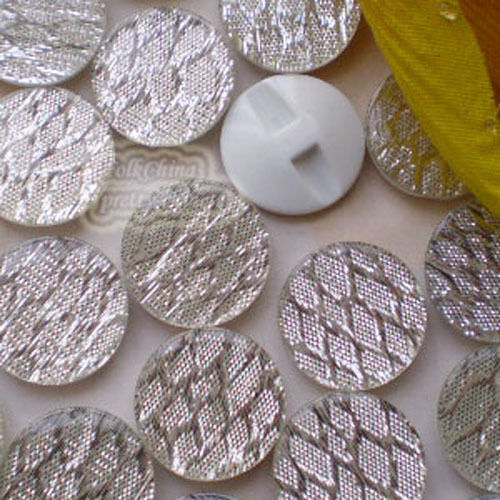 White Mesh Glitter 20mm Acrylic Resin Button Sewing Craft 2806#34