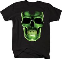 Tshirt -glowing Neon Hollow Skull