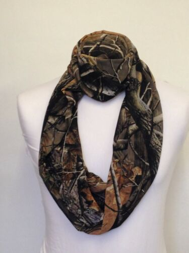 Infinity Scarf Jersey Or Chiffon Real Camouflage Unisex Fashion Loop Scarves