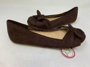 8972b3d8b NEW! Jellypop Women s Dreamer Slip On Flats Brown Size 6.5 186D z