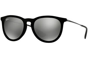 3ae0815cd6 Ray-Ban RB4171 60756G Erika Velvet Black Frame Grey Mirror 54mm Lens ...