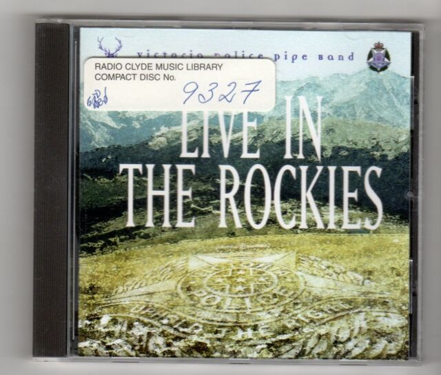 (IN640) Victoria Police Pipe Band, Live In The Rockies - 1996 CD