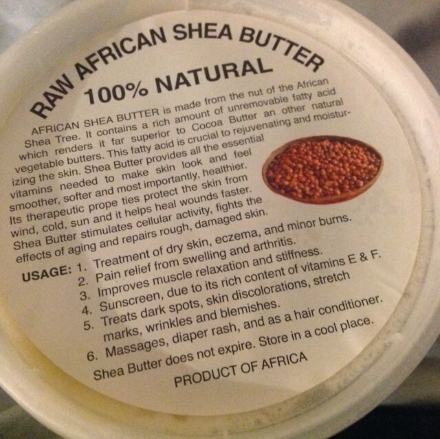 ORGANIC RAW AFRICAN SHEA BUTTER WHITE/IVORY 100% Natural 8oz/1/2 pound