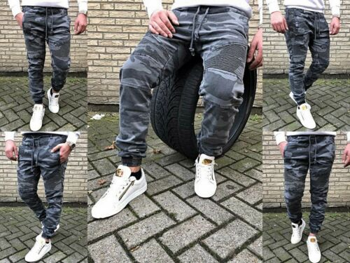 Motard Skinny Tubes Homme Désert Camouflage Mode Jeans Fit Army Militaire 4qwfgr4
