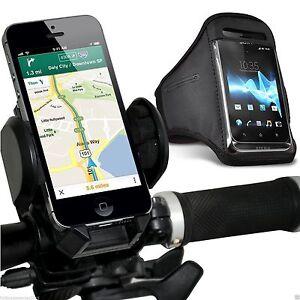 Quality-Bike-Bicycle-Handlebar-Phone-Holder-Sports-Armband-Case-Cover-Black